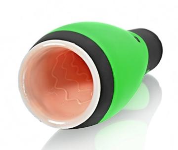Deluxe Oral Masturbator für Männer, Vibro Muschi aus Silikon mit 30 Vibrationen - 1