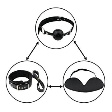 Paloqueth Sex Werkzeuge 10 Stück unter dem Bett Restraint System Slave S&M Fesseln Bondage Kit (Schwarz) - 2