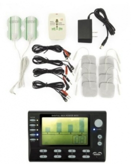 Elektro Reizstrom Gerät, Power box, Set, 4 KANAL mit LCD Display incl. vielem Zubehör - 1
